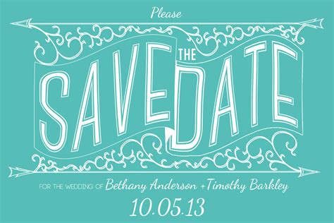 Hold The Date Templates Save The Date Template Invitation Templates On Creative Market