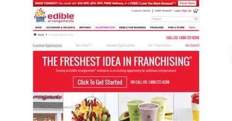 edible arrangements top retail franchises 10 best