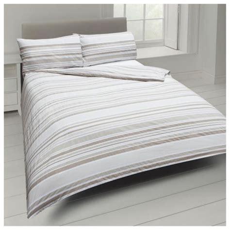 tesco bed linen buy basic tonal stripe duvet set from our king duvet
