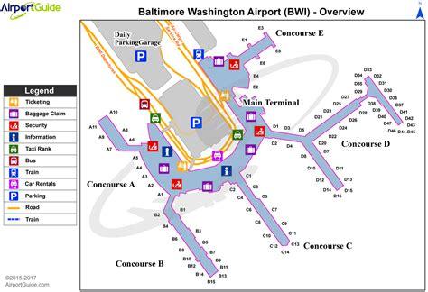 bwi airport map baltimore baltimore washington international thurgood marshall bwi airport terminal maps