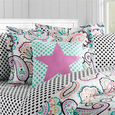 Pottery Barn Dorm Duvet Covers Rockin Paisley Bedding Set Pbteen
