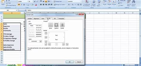 format microsoft excel 2007 how to use the format cells dialog box in ms excel 2007