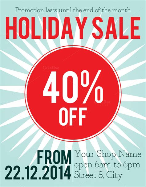 Holiday Sale Flyer Template