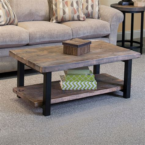 wood and metal coffee table loon peak somers 42 quot wood metal coffee table reviews