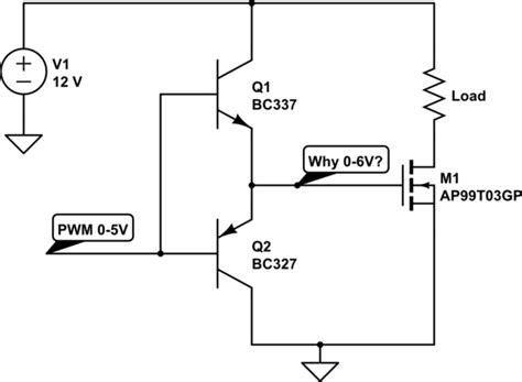 mosfet transistor voltage drop bjt push pull for a mosfet electrical engineering stack exchange