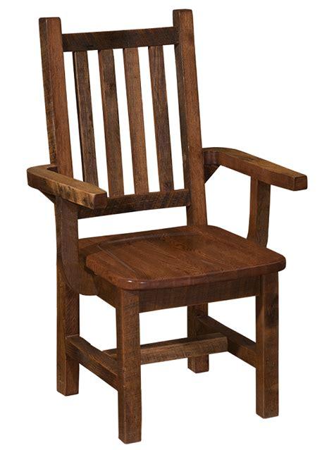 Barnwood Dining Chairs Barnwood Prairie Dining Arm Chair