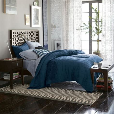 blue bed spread feng shui tips for the bedroom