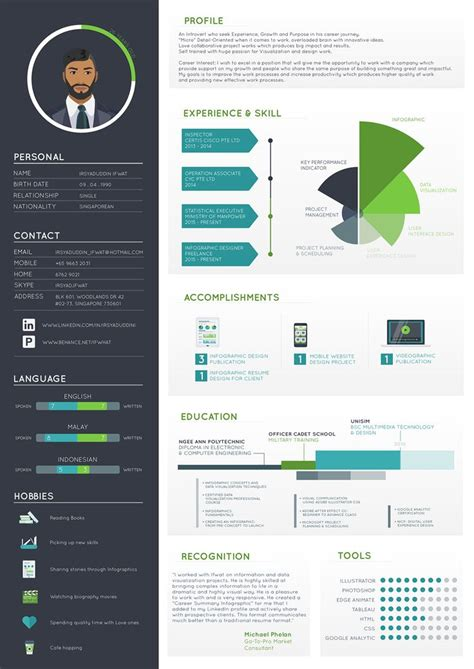 Visual Resumes by 1207 Best Infographic Visual Resumes Images On