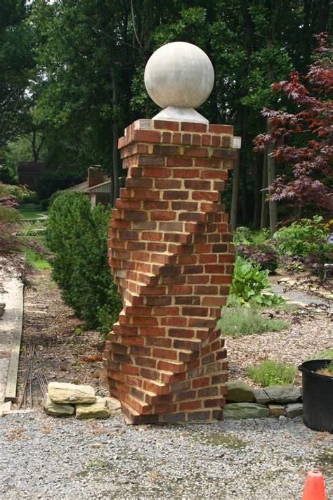 spiral brick column designbuild  wewerka construction