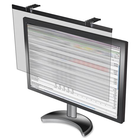 compucessory privacy screen filter black 22 quot lcd monitor