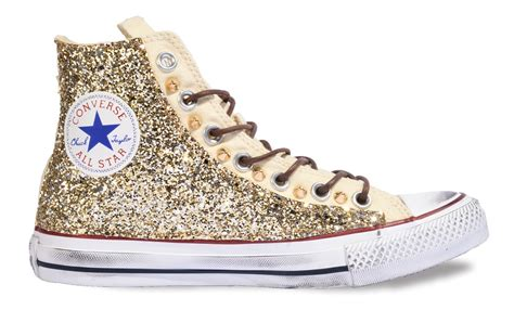 converse glitter sneakers converse all custom optical white with materials by