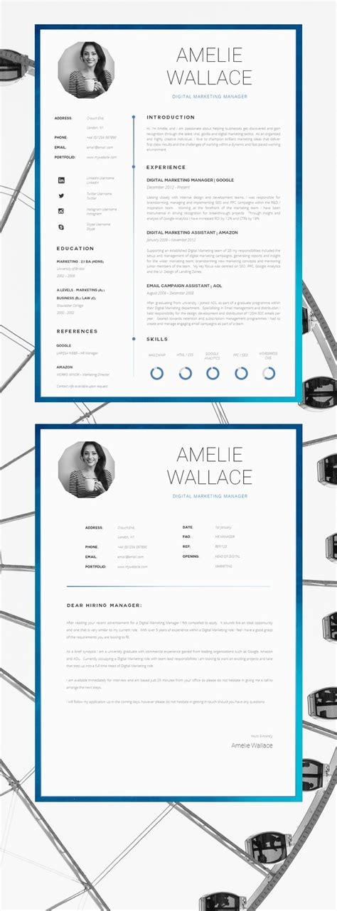 Cover Page Layout For Resume by 25 Best Ideas About Creative Cv Template On