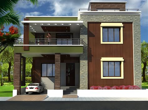 home design exterior elevation duplex house front elevation designs with plans trends