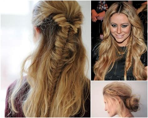 edgy hairstyles with braids intricate edgy unique fishtail braids for boho brides