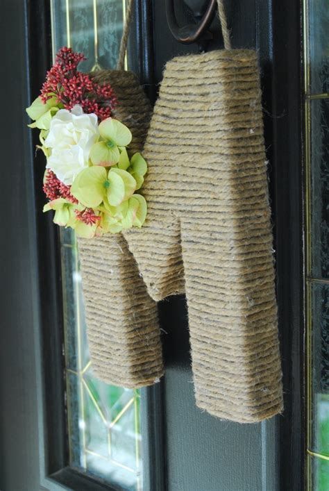 Letter Wreaths For Door by 25 Best Ideas About Letter Wreath On Twine