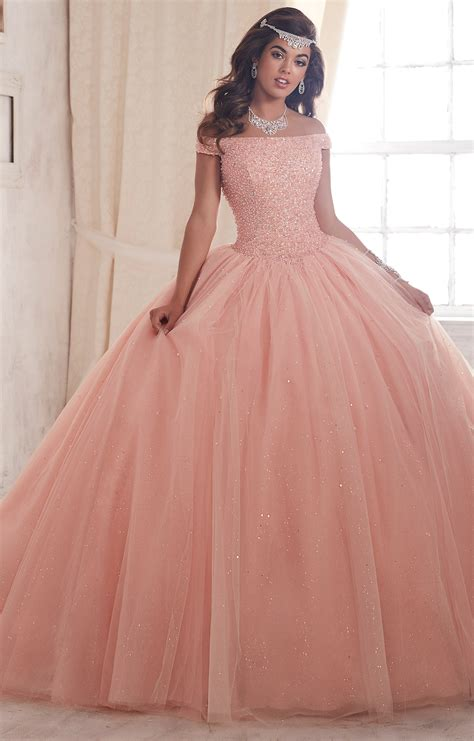 house of wu quinceanera by house of wu 26844 off the shoulder tulle ball gown prom dress