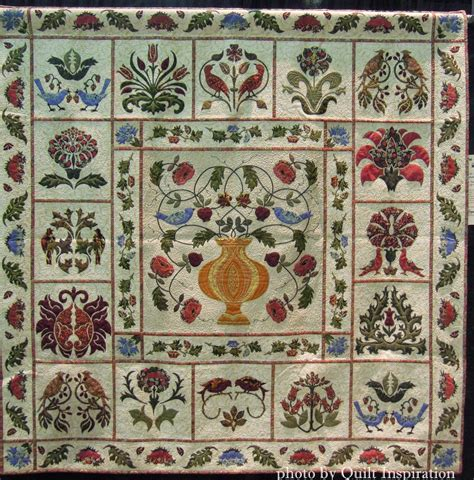 William Morris Patchwork Fabric - quilt inspiration william morris for applique