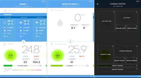 personal weather station and thermostat from netatmo