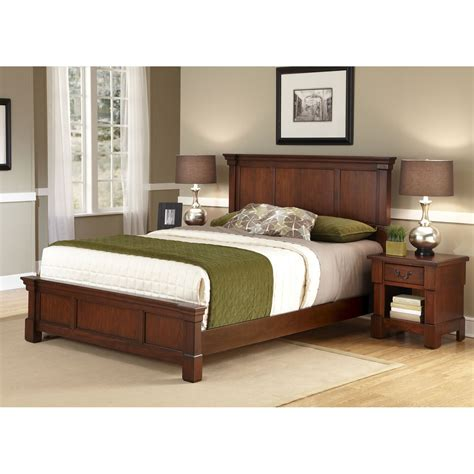 aspen bedroom furniture aspen queen bed and night stand home styles furniture