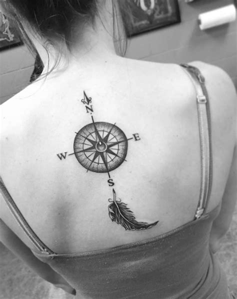 compass tattoo upper back compass tattoo images designs