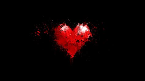 Wallpaper Dark Heart | romantic love heart designs hd cover wallpaper pixhome