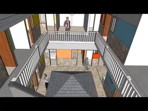desain rumah kos dua lantai  astudioarchitectcom youtube