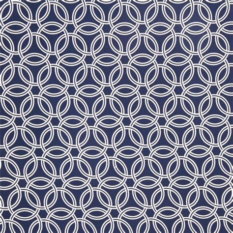 Gorden Ring Motif Ranium White navy blue ring pattern cotton sateen fabric michael miller dots stripes checker fabric