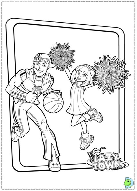 free coloring pages of lazytown pictures