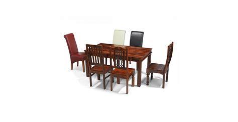 Chunky Dining Table And Chairs Jali Sheesham 200 Cm Chunky Dining Table And 8 Chairs Lifestyle Furniture Uk