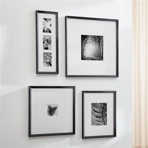 icon black wall frames crate  barrel