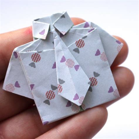 tutorial origami shirt make this cute little origami shirt with this simple