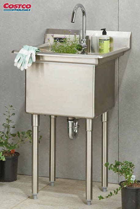 trinity stainless steel utility sink  faucet