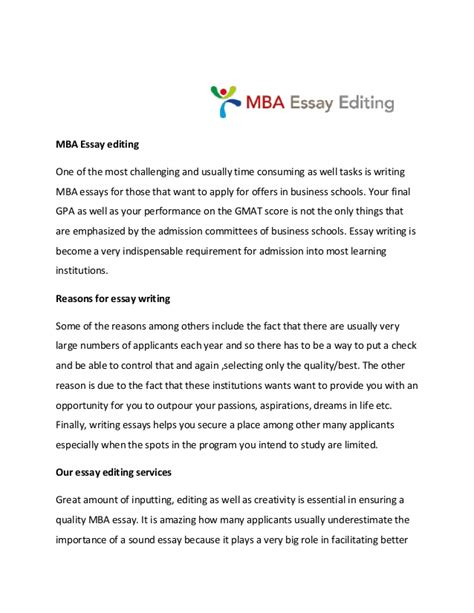 Mba Essay Tips And Tricks by Mba Essay Editing Service