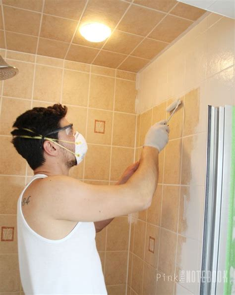 how to paint over bathroom wall tile yes you really can paint tiles rust oleum tile