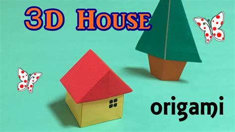 How To Make A 3d Paper House Step By Step - origami house 3d easy for beginners how to make a paper