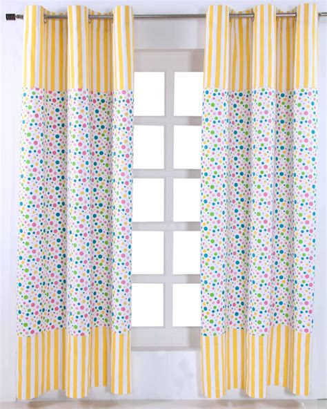 curtains 145 cm drop multi polka dots ready made eyelet curtain pair 137 x 228