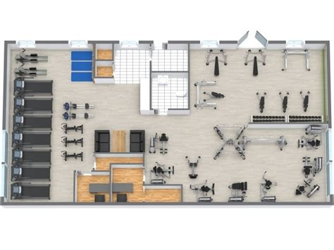 home gym layout planner floor plans roomsketcher
