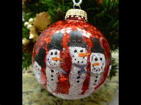 diy christmas handprint snowman ornament easy   youtube