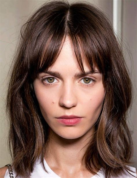 short center parting hair cut best 25 middle part bangs ideas on pinterest middle parting fringe center part bangs and