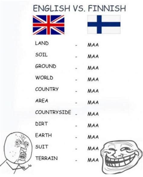 Finnish Meme - english vs finnish differenze linguistiche know your meme