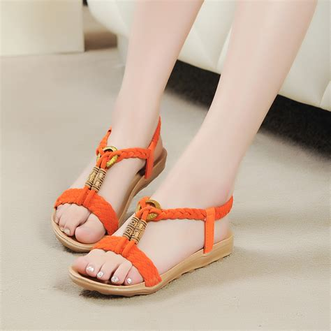 2014 flat shoes knitted 2014 flat heel sandals flat open toe sandals the