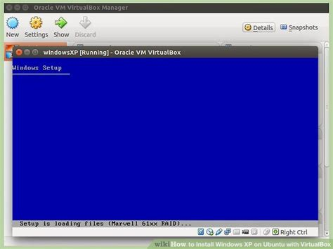 setup xp virtual host how to install windows xp on ubuntu with virtualbox 12 steps