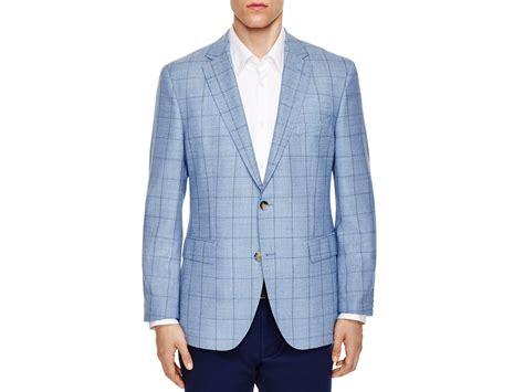 light blue windowpane sport coat lyst windowpane regular fit sport coat in blue for