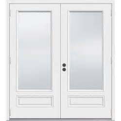 patio doors outswing shop jeld wen 71 5 in 1 lite glass composite