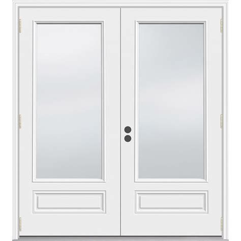 outswing doors exterior shop jeld wen 71 5 in 1 lite glass composite