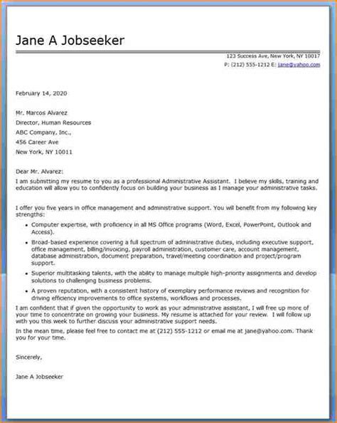 cover letter for administrative 15 administrative assistant cover letter basic