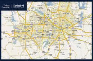 dallas fort worth metro map travel map