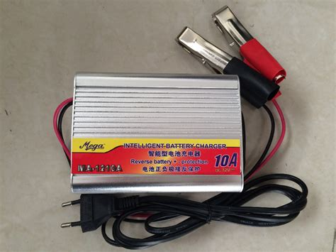 Charger Aki Otomatis 12 Volt free shipping 220v to 12v car battery charger 10a boat bicycle lead acid battery charger ac dc