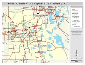 florida map lakeland polk county road network color 2009