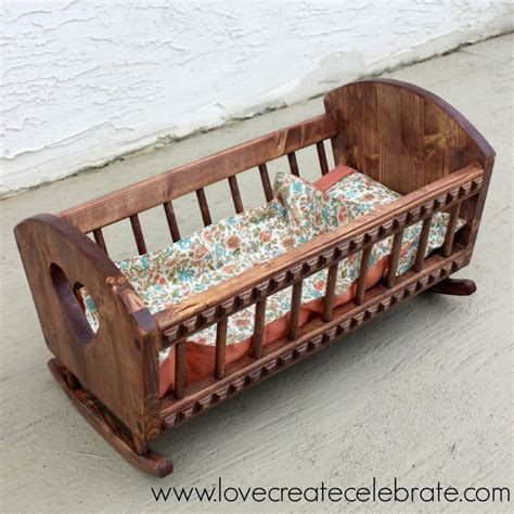 Baby Doll Crib Plans 1000 Images About Woodworking Doll Cradle On American Dolls Wooden Plans